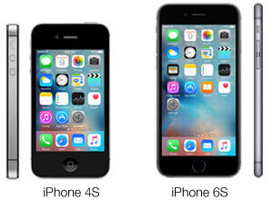 iPhone 4S vs 6S